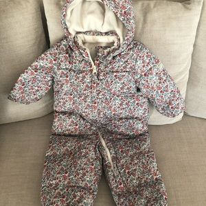 Down filled toddler snow suit